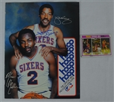 Julius Erving Autographed Photo & Card