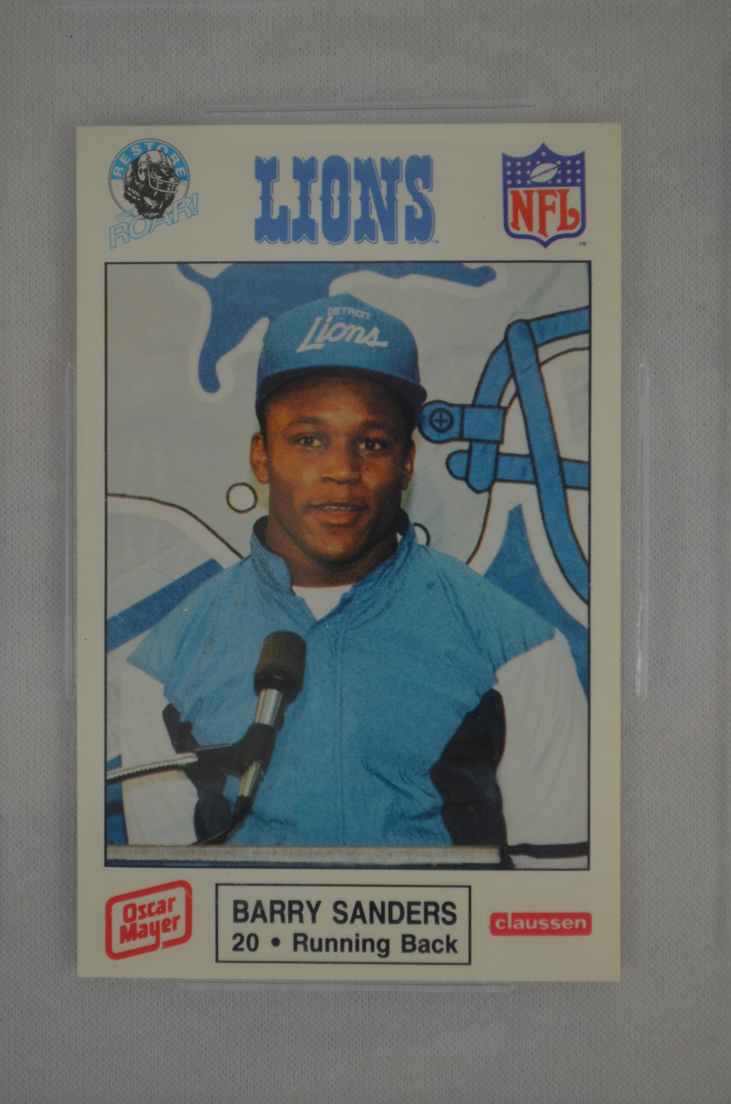 Lot Detail Barry Sanders 1989 Detroit Lions Police Rookie