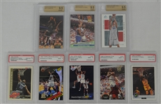 Shaquille ONeal & Yao Ming Lot of 8 Graded Rookie Cards