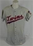 Jerry Zimmerman 1967 Minnesota Twins Professional Model Flannel Jersey w/Heavy Use