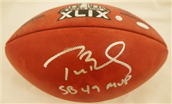 Tom Brady Autographed & Inscribed Super Bowl XLIX Football