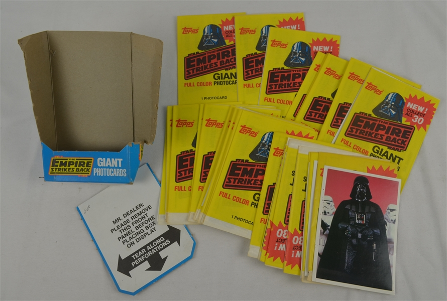 Empire Strikes Back 1980 Topps Box of Unopened Giant Photo Card Packs