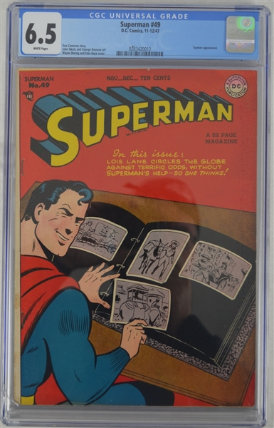 Superman 1947 Comic Book Issue #49 CGC Graded 6.5