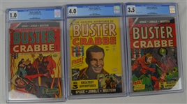 Buster Crabbe 1954 Comic Book Issues #1 #2 & #4 Graded by CGC