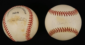 Willie McCovey & Gary Sheffield Lot of 2 Autographed Baseballs