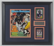Walter Payton Autographed Sports Illustrated & Signed Card Framed Display