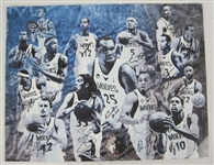 Minnesota Timberwolves 2008-09 Team Signed 16x20 Photo