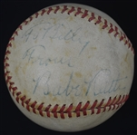 Babe Ruth Single Signed OAL William Harridge Baseball