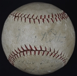 Babe Ruth Single Signed Baseball Dated 1927
