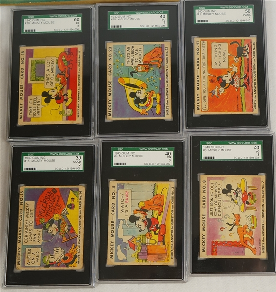 Vintage 1935 Mickey Mouse Original 96 Card Volume I & II Picture Albums by Walt Disney