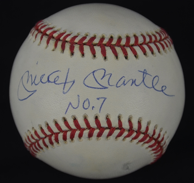 Mickey Mantle Autographed & Inscribed Baseball UDA