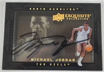 Michael Jordan Autographed Shadowbox Basketball Card