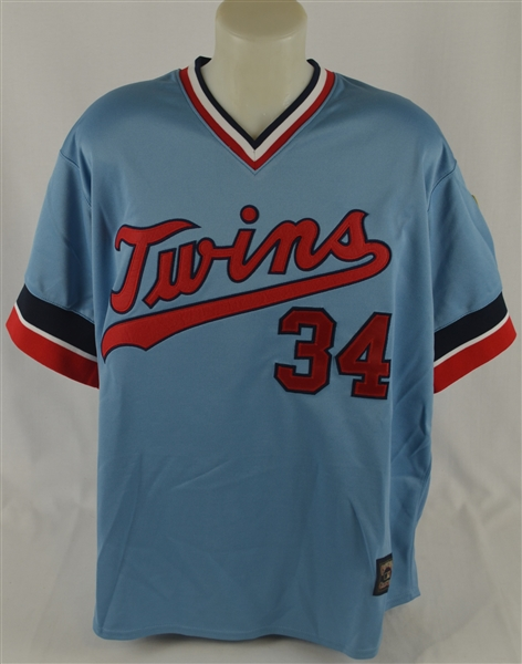 Kirby Puckett Autographed 1984 Rookie Throwback Jersey