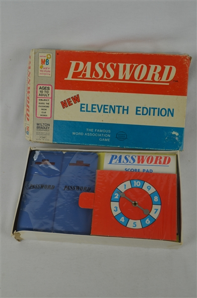 Vintage 1970 Password Game w/Original Packaging