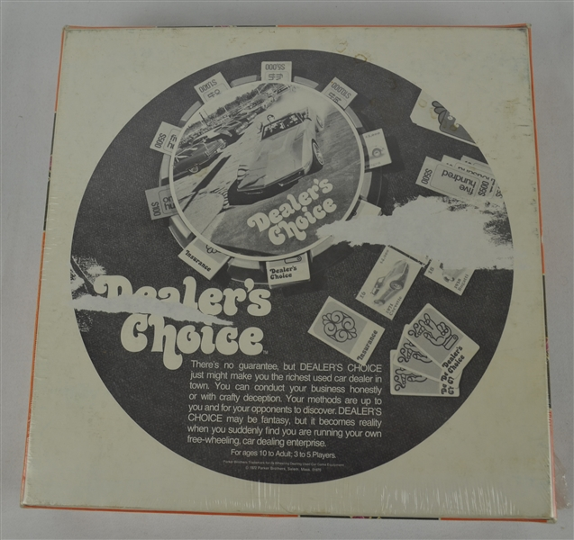 Vintage 1972 Dealers Choice Game Sealed w/Original Packaging