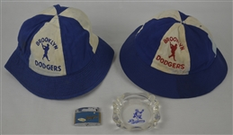 Brookly Dodgers Collection w/Vintage Hats Lighter & Ash Tray