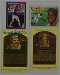 Collection of 4 Autographed HOF Postcards & Vintage Cards