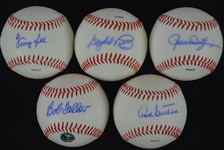 Collection of 5 Autographed Baseballs