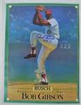Bob Gibson Autographed 1981 Busch Beer Poster