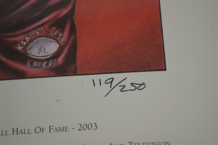 Hank Stram Signed Missouri Sports HOF Litho