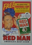 Ralph Kiner Chesterfield Johnny Mize Red Man & Tito Francona H&B Signed Advertisements