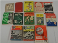 Collection of 13 Vintage 1930s-1950s Baseball Publications