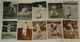 Collection of 15 Autographed Baseballs Magazine Photos