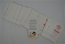 Mickey Mantle Collection of 125 Donor Cards