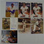 Collection of 7 Autographed HOF Pitchers 8x10 Photos