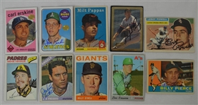 Vintage Collection of 10 Autographed Baseball Cards w/Gaylord Perry