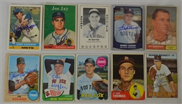 Vintage Collection of 10 Autographed Baseball Cards w/Bobby Doerr