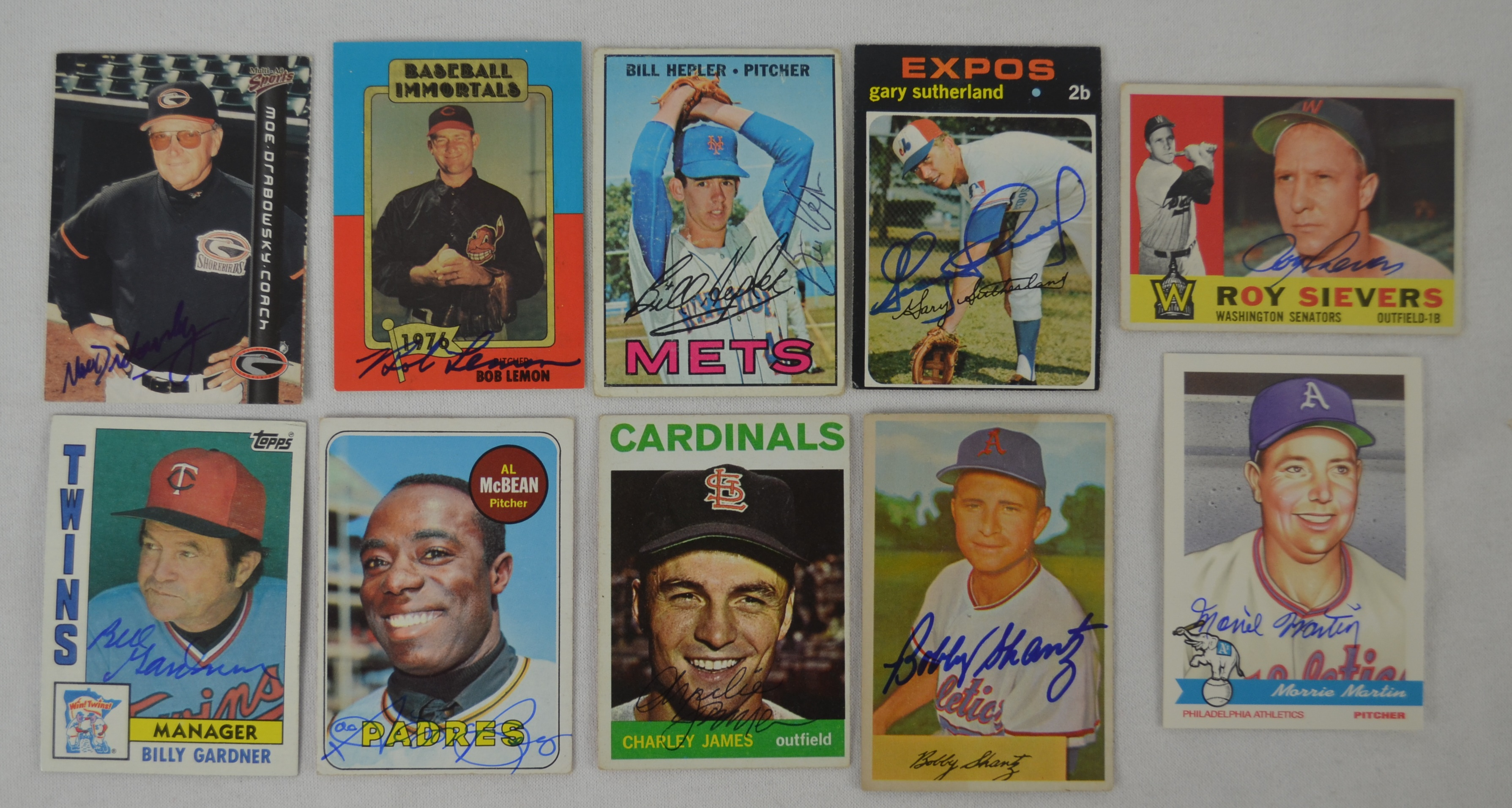Lot Detail Vintage Collection Of 10 Autographed Baseball