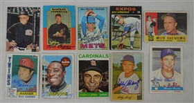 Vintage Collection of 10 Autographed Baseball Cards w/Bob Lemon