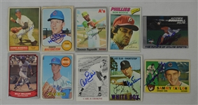 Vintage Collection of 10 Autographed Baseball Cards w/Billy Williams