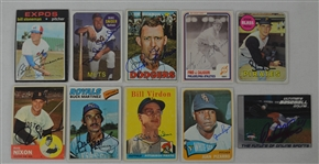 Vintage Collection of 10 Autographed Baseball Cards w/Duke Snider