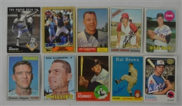 Vintage Collection of 10 Autographed Baseball Cards w/Gary Carter