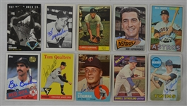 Vintage Collection of 10 Autographed Baseball Cards w/Hoyt Wilhelm