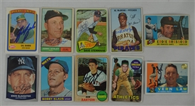 Vintage Collection of 10 Autographed Baseball Cards w/Enos Slaughter