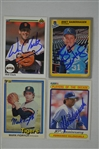 Collection of 4 Autographed Baseball Cards w/Fernando Valenzuela