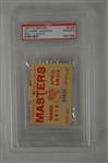 Billy Casper 1970 Masters Badge w/ PSA Authentication
