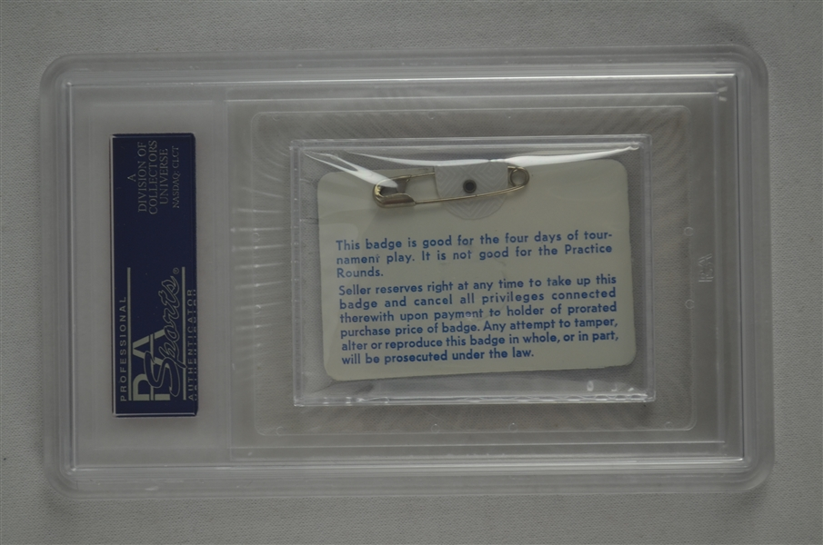 Fuzzy Zoeller 1979 Masters Badge w/ PSA Authentication