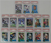 1990 Topps & Score Football Collection of 15 PSA Graded Cards