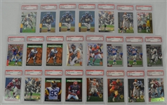 1993-1996 SP Football Collection of 23 PSA Graded Cards