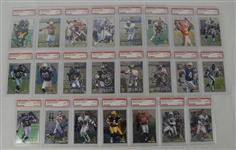 1997 SP Authentic Football Collection of 23 PSA Graded Cards