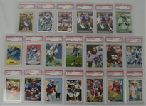 1990-1993 Football Collection of 20 PSA Graded Cards
