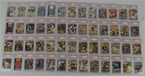 1990 Pro Set Football Collection of 52 PSA Graded Cards