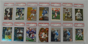 1995-1996 Football Collection of 14 PSA Graded Cards