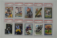 1997-2000 Football Collection of 10 PSA Graded Cards