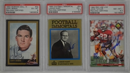 Collection of 3 Autographed Cards w/Lamar Hunt PSA/DNA