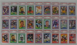 1989 Score Football Collection of 27 PSA Graded Cards